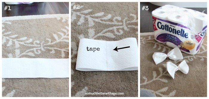 toilet paper bows www.somuchbetterwithage.com