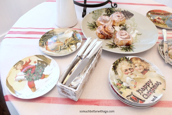 French Christmas Details / Christmas plates - So Much Better With Age
