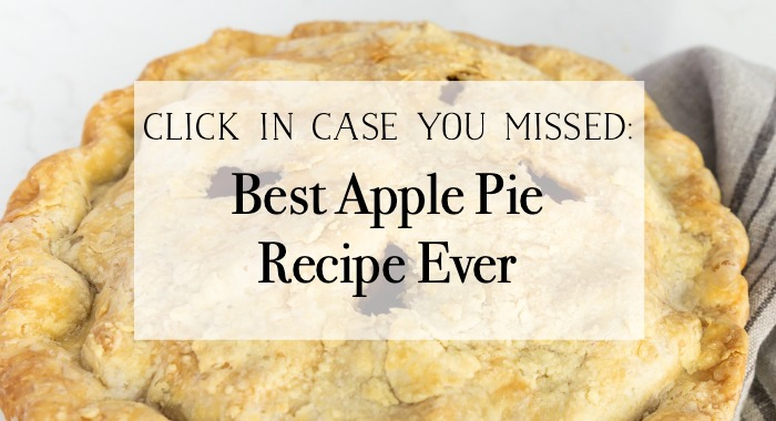 Best apple pie recipe ever graphic.