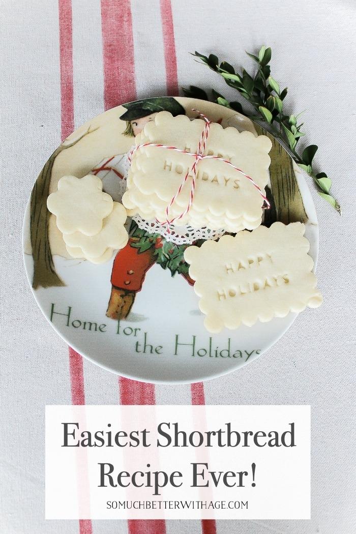 Easiest Shortbread Recipe Ever poster.