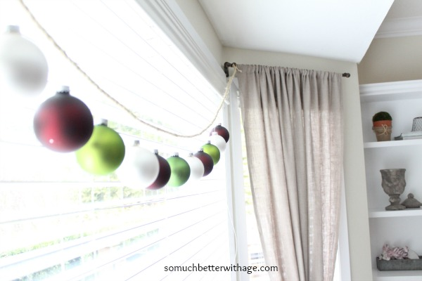 Easy Christmas garland / simple and elegant - So Much Better With Age