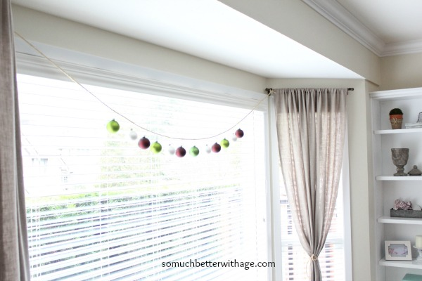 Easy Christmas garland / string of Christmas ornaments - So Much Better With Age