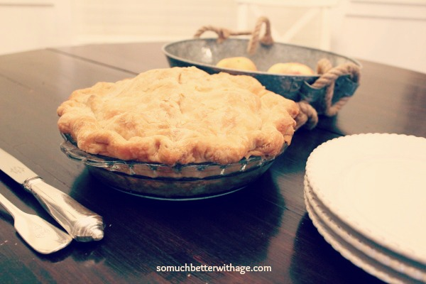 Easiest pie pastry recipe ever / baked pie on table - So Much Better With Age