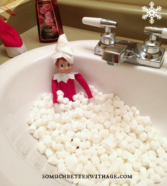 Creative ideas for the Elf on the Shelf | somuchbetterwithage.com
