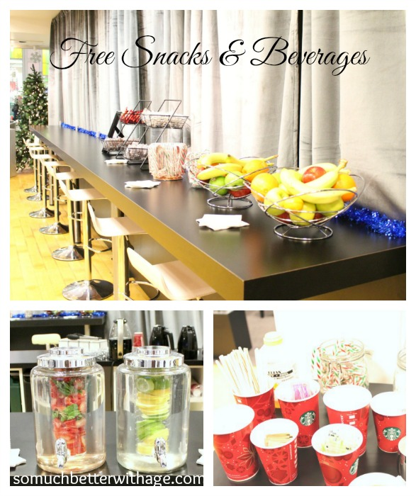 free snacks and beverages www.somuchbetterwithage.com