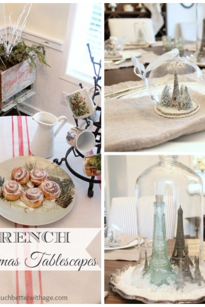 Two French Christmas Tablescapes
