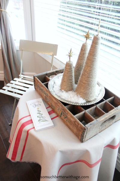 French Christmas Details / twine christmas trees - So Much Better With Age