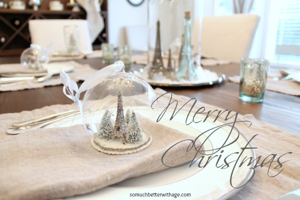 French Christmas Details / decorated table - So Much Better With Age