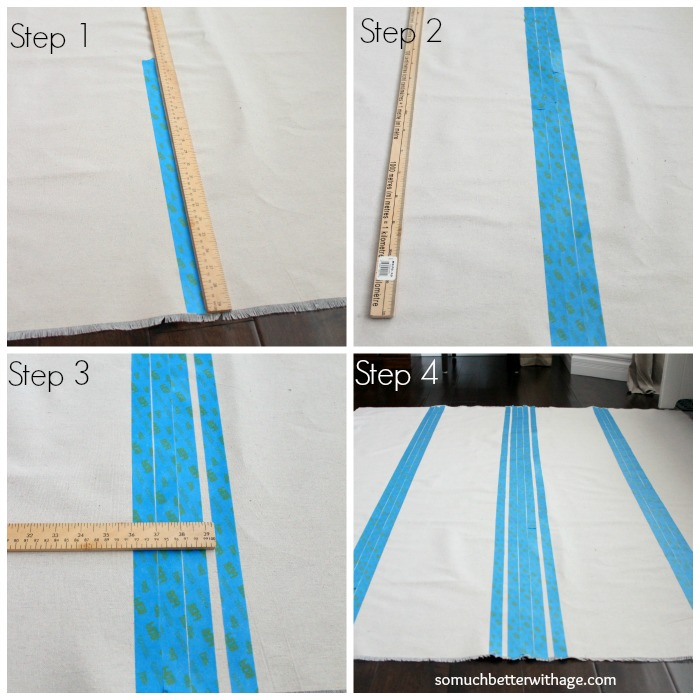 How to make a grain sack tablecloth DIY / taking measurements - So Much Better With Age