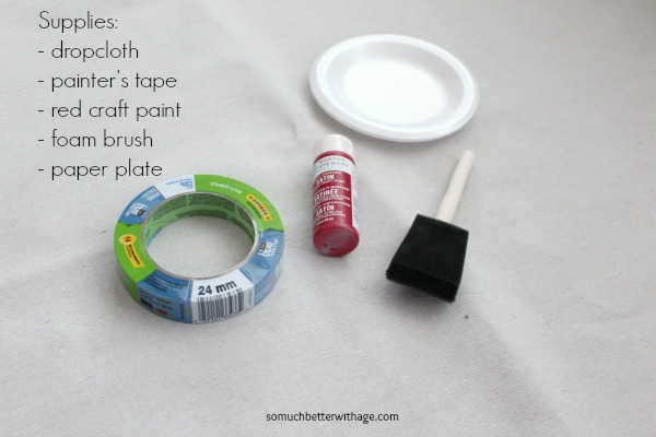 How to make a grain sack tablecloth DIY | somuchbetterwithage.com
