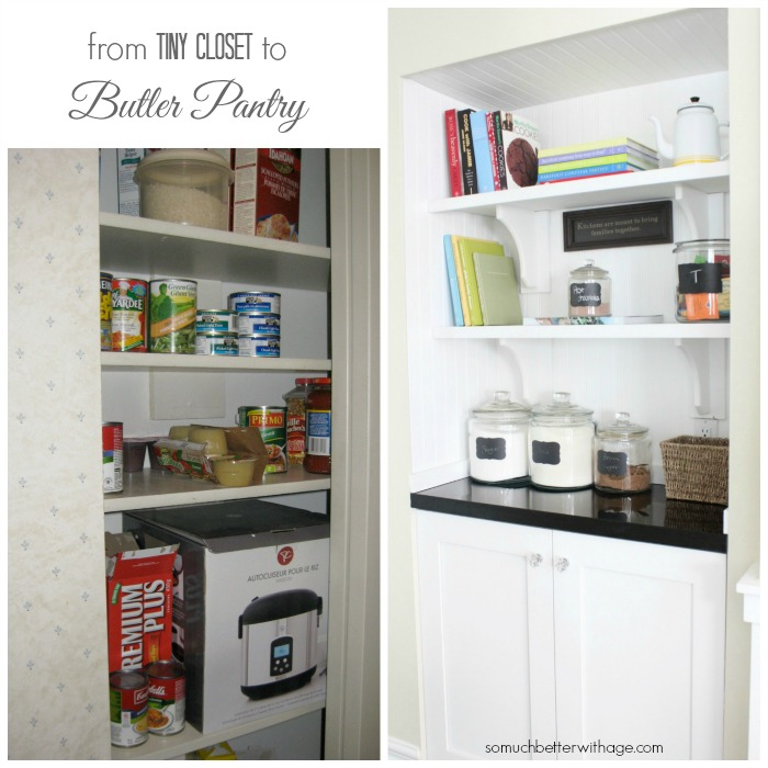 tiny closet to butler pantry somuchbetterwithage.com
