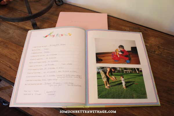 Baby Memory Books - Organize the Easy Way | somuchbetterwithage.com