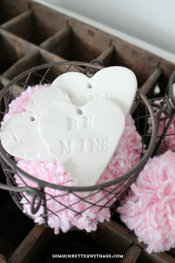 DIY Clay Valentine Hearts and Garland / be mine heart - So Much Better With Age