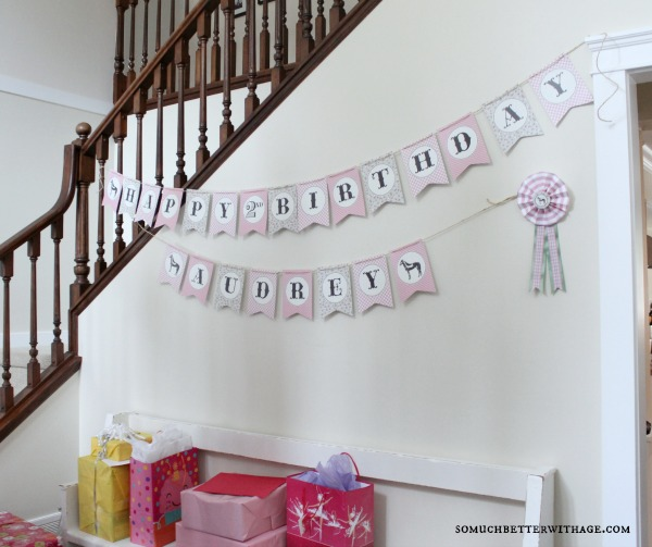 Vintage equestrian birthday party / birthday banner - So Much Better With Age