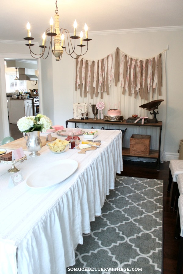 Vintage equestrian birthday party / table with food - So Much Better With Age