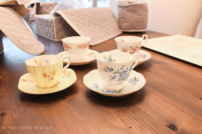 Why Bother Having a China Collection and How to Store and Care for It/grandma's tea cups - So Much Better With Age