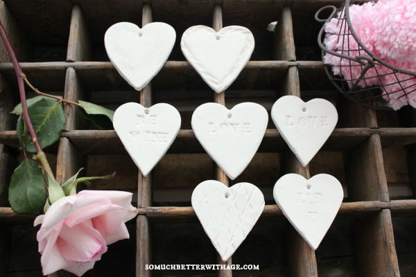 DIY Clay Valentine Hearts and Garland / baked hearts - So Much Better With Age
