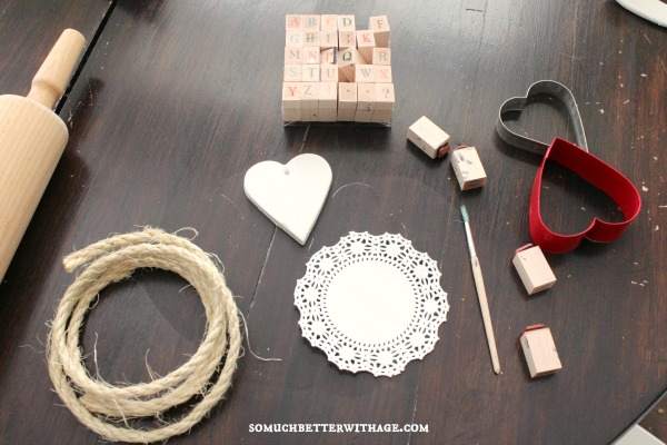 DIY Clay Valentine Hearts and Garland / supplies - So Much Better With Age