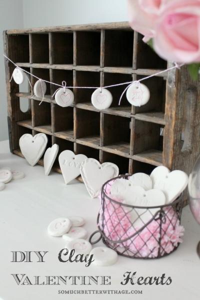 DIY Clay Valentine Hearts and Garland