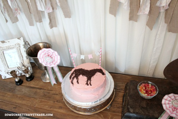 Vintage equestrian birthday party / horse cake - So Much Better With Age