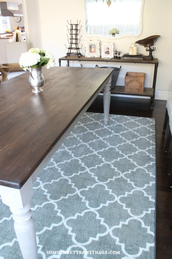 trellis rug living room my new dining room rug so much better with age 14727