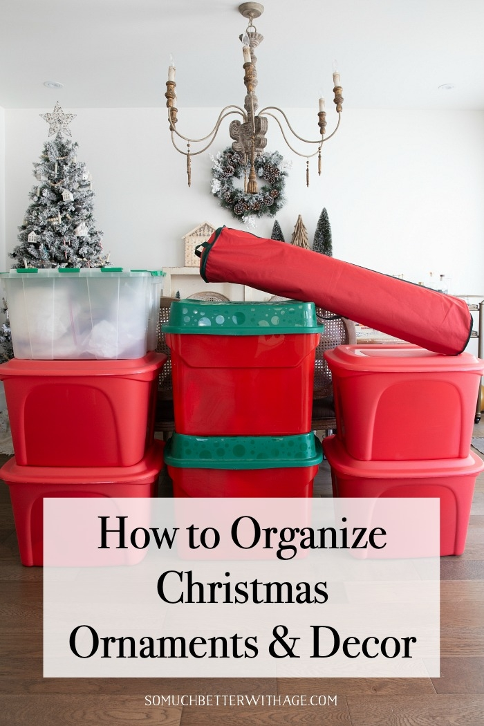 How to Organize Christmas Ornaments and Decor