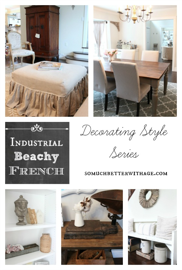 Industrial Beachy French style by somuchbetterwithage.com