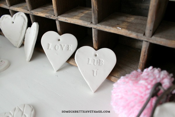 DIY Clay Valentine Hearts and Garland / lub u - So Much Better With Age