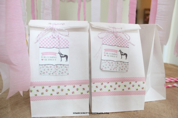 Vintage equestrian birthday party / equestrian party favor bags - So Much Better With Age