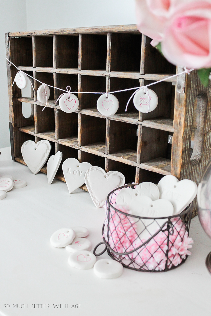 DIY Clay Hearts and Garland for Valentine's Day - So Much Better With Age