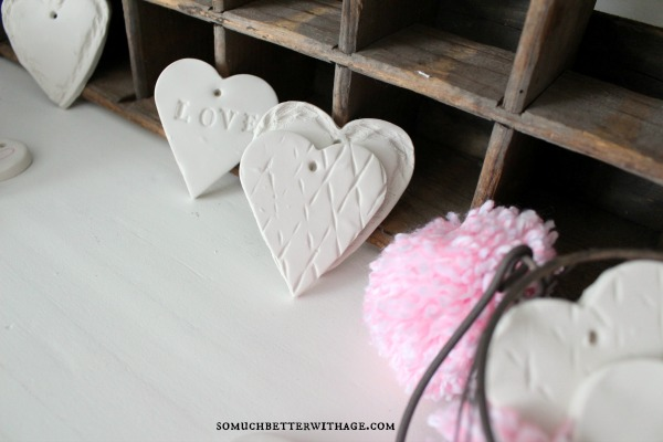 DIY Clay Valentine Hearts and Garland / decorative hearts - So Much Better With Age