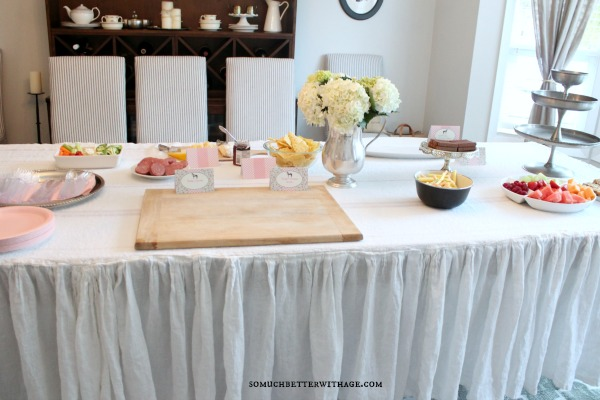 Vintage equestrian birthday party / quiche and snacks on table - So Much Better With Age