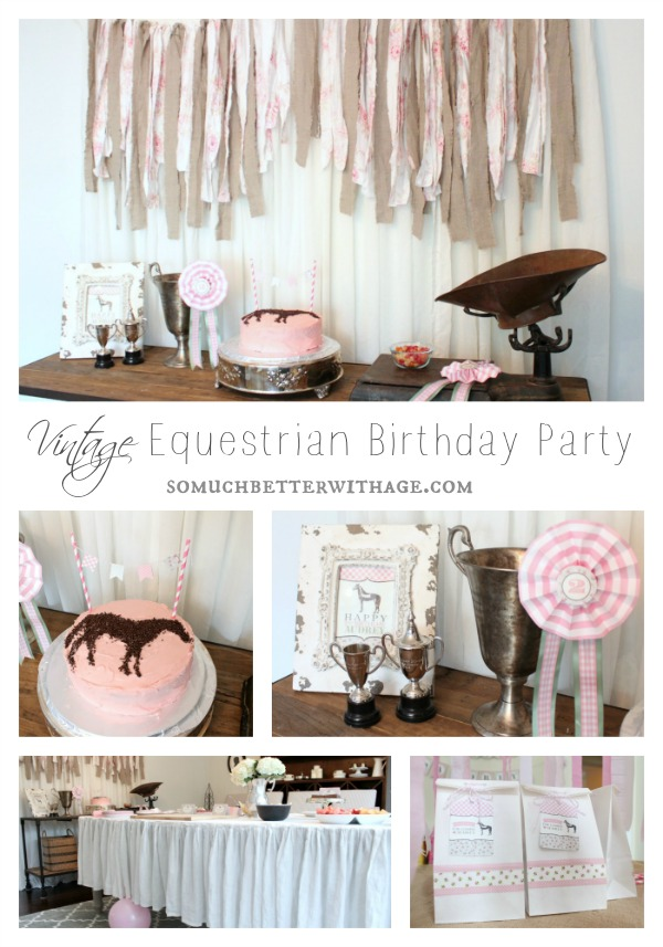 Vintage Equestrian Birthday Party by somuchbetterwithage.com