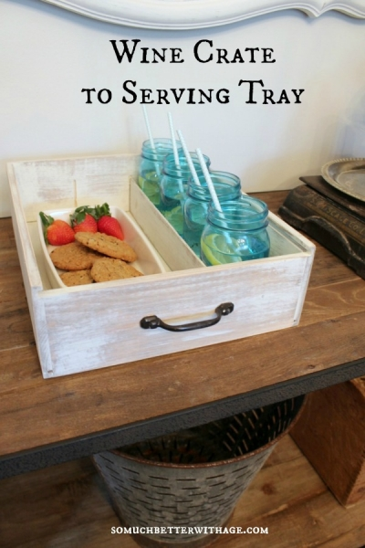 Wine Crate To Serving Tray