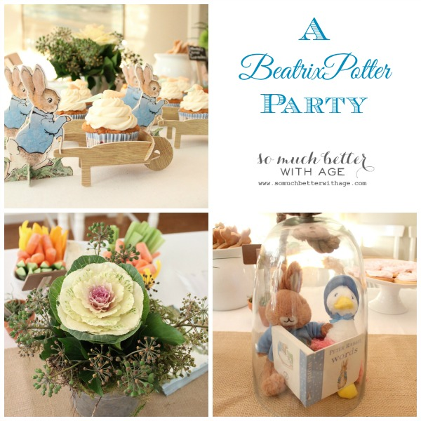 A Beatrix Potter Party graphic.