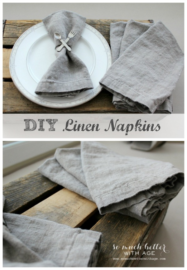 DIY Linen Napkins - So Much Better With Age