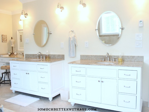 Real wood custom vanities for less / master ensuite custom vanities - So Much Better With Age