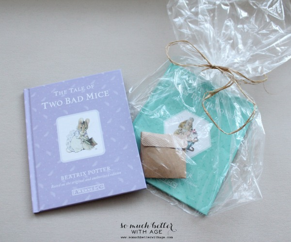 Beatrix potter goodie bags with books inside.