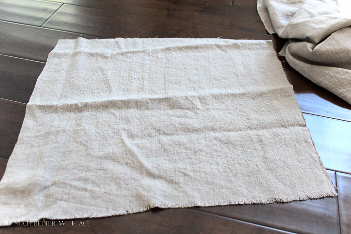 How to make your own linen napkins/cut fabric - So Much Better With Age