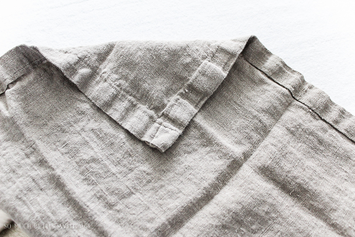 How to make your own linen napkins/nubby linen fabric - So Much Better With Age