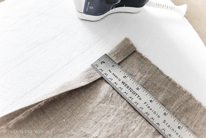 How to make your own linen napkins/measure fabric - So Much Better With Age