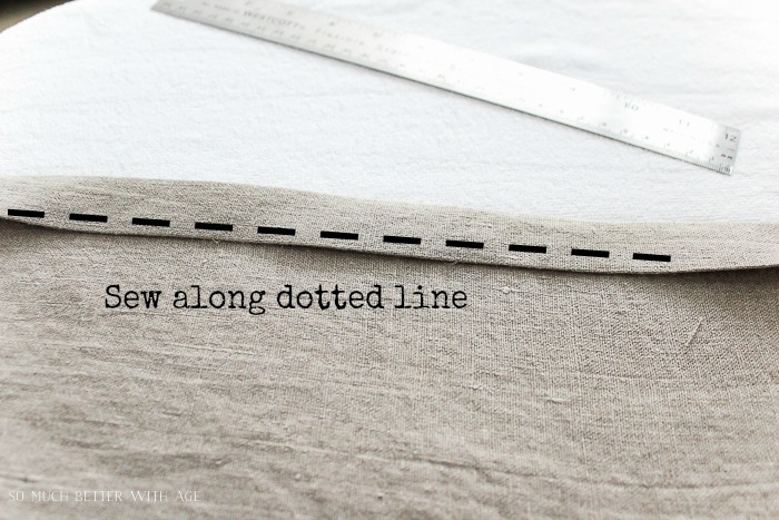 How to make your own linen napkins/sew along dotted line - So Much Better With Age