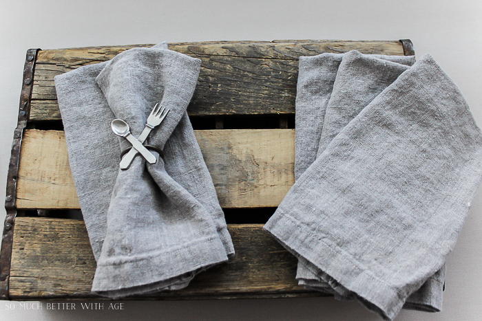 How to make your own linen napkins/French linen napkins - So Much Better With Age