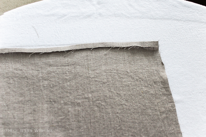 How to make your own linen napkins/iron over hem - So Much Better With Age