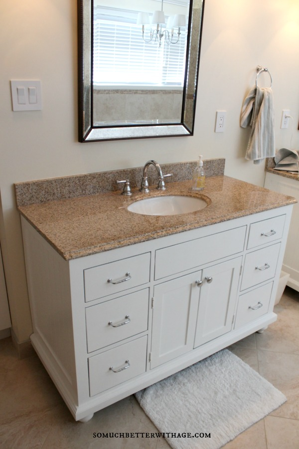 Real wood custom vanities for less / vanity in bathroom with mirror - So Much Better With Age