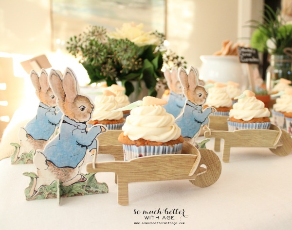 Peter rabbit cupcake wrappers.