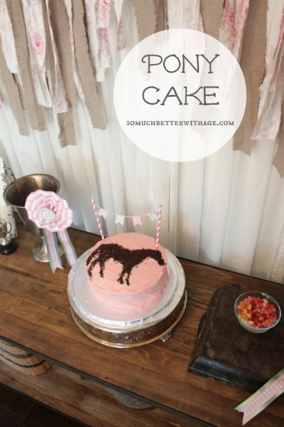 Pony Cake and Party Streamers