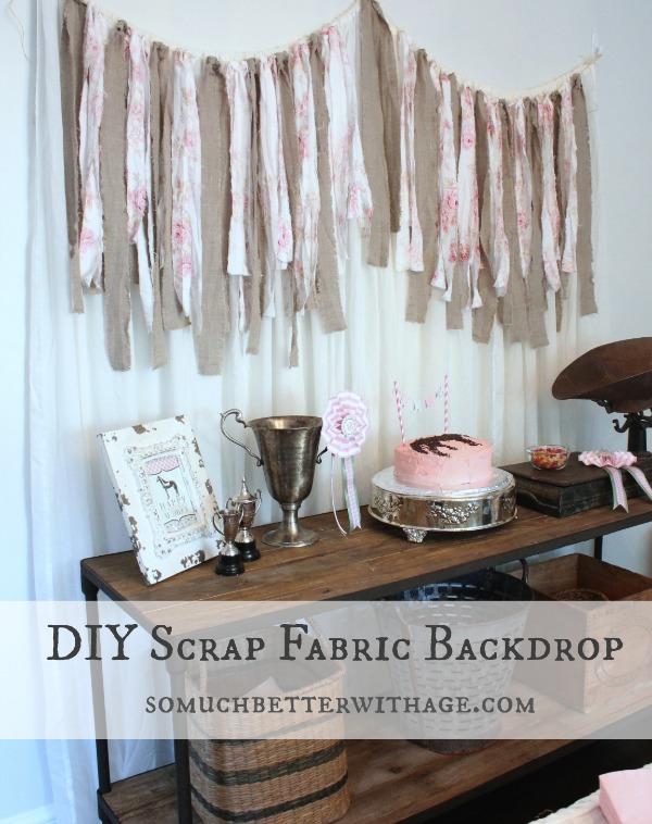 DIY scrap fabric backdrop somuchbetterwithage.com