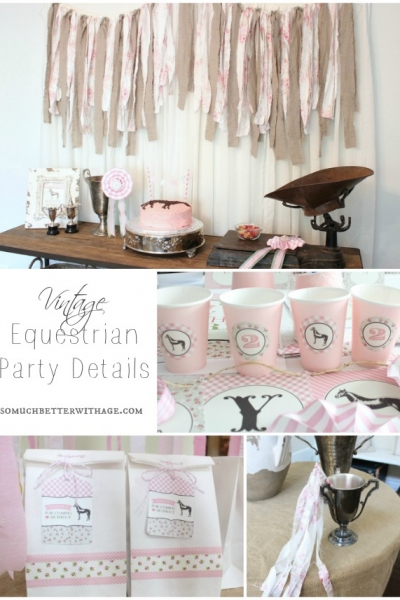 Vintage Equestrian Party Details {Cups, Favors, Wands}