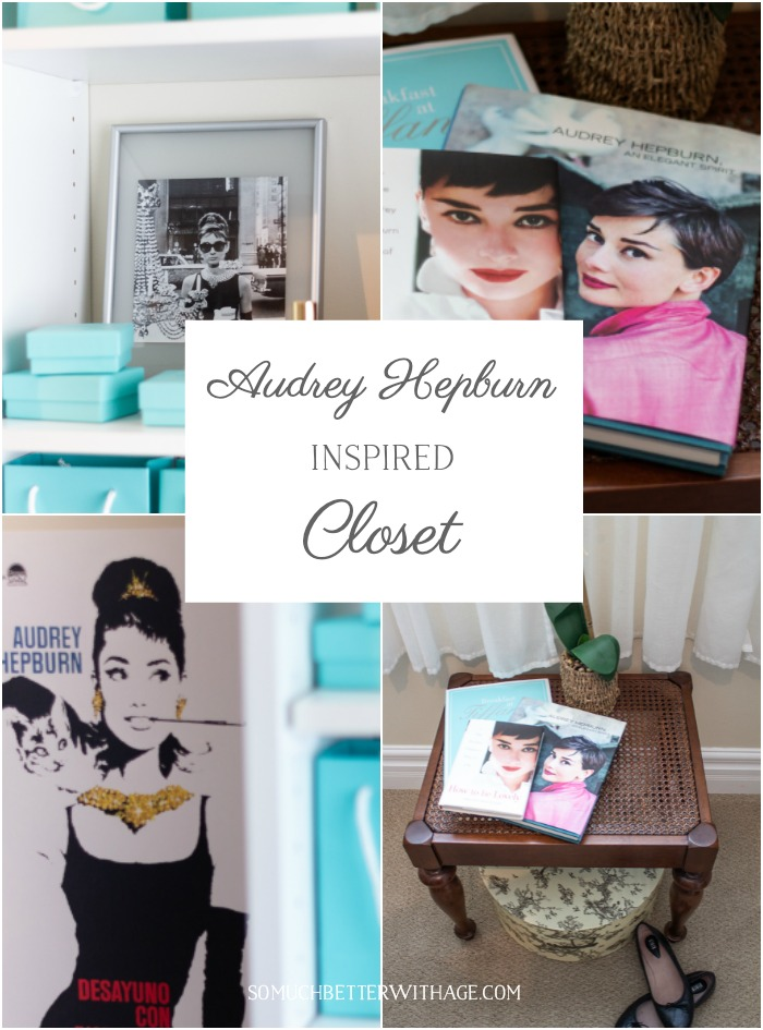 Audrey Hepburn Inspired Closet graphic - So Much Better With Age